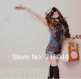 Wholesale New Fashion Women Detachable Overall Plus Size Summer Denim Jumper Shorts Vest Short Casual Jeans Rompers