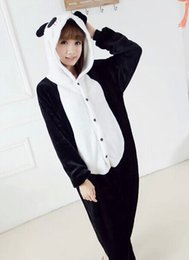 Wholesale Cartoon panda Cute fashion HOT Unisex Adult Pajamas Cosplay Costume Animal Anime Onesie Sleepwear for boy girl couple