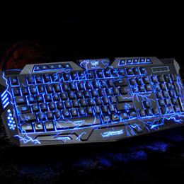 Игровая клавиатура мыши Combos Gamer Переключаемая Backlights LED USB Проводная игры клавиатура для компьютера Mac DOTA Free DHL 010248
