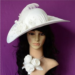 Wholesale Real Images Fascinator Feathers Wedding Hats Peals Kentucky Derby Hats Bridal Hat Wedding Party Dresses Accessories Satin
