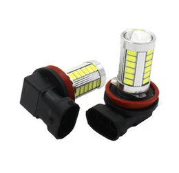 2017 wholesale fog lights ( 2 pieces lot) Led H11 H8 5630 5730 33 SMD Headlights DRL Daytime Running Lights Lndicate High Power Fog Lamps cheap wholesale fog lights