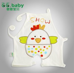 Wholesale New summer newborn Chinese style chest covering cartoon printing baby Burp Cloths pure cotton infant Feeding clothing ab1401