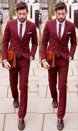 Wholesale Handsome mens suits wedding suits For Groom Groomsmen Tuxedos men wedding suits Jacket Pant Tie Groom Tuxedos Gentle Man
