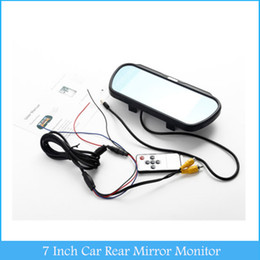 7 Inch Rear Mirror Monitor LCD Touch Screen Button Parking Assistance for Car Camera DVD VCD Player Rear View Display C313