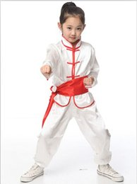 Wholesale NEW gal Children s clothes martial arts clothing shadowboxing embroider white