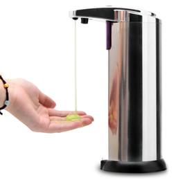 Enviar desde EE.UU.! Sensor de dispensador de jabón de acero inoxidable automático de manos libres portátil máquina de lavado de movimiento activado w / Stand de envío gratuito