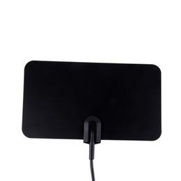 Antenne TV numérique HDTV DTV HD 1080p TV Boîte Prêt VHF UHF Plat Design Haute Gain HD TV DTV Box avec Support de support