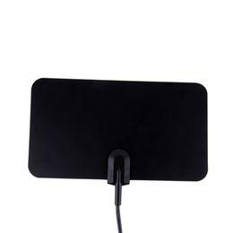 Цифровой Indoor TV антенны HDTV DTV HD 1080p TV Box Ready УКВ плоский дизайн с высоким коэффициентом усиления HD TV DTV Box с подставкой держатель