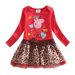 Wholesale Kids Dress Baby Girl Party Dress Cartoon Dress Tutu Skirt Cartoon Embroidery Long Sleeve Dress for Girls New Baby Kids H4715