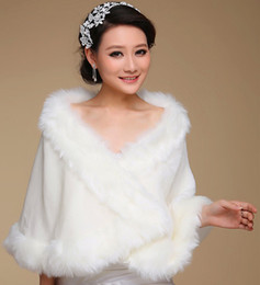 Cheap White Fur Coat Bridesmaid Dress | Free Shipping White Fur