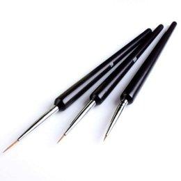 Wholesale Nail Tools Tiny Liner Drawing Painting Pen Brush Acrylic Nail Art Detailed Design Tool set Nail pen Nail Brushes set Free DHL
