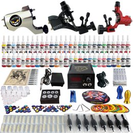 Wholesale Factory Complete Tattoo Kit Pro Rotary Machine Guns Inks Power Supply Needle Grips TK355