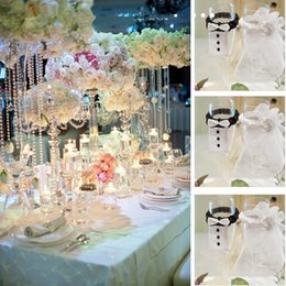 Wholesale Champagne Flutes Bow and Flower Resin Hanlde Wedding Toasting Flutes Wedding Accessories Wedding Supplies