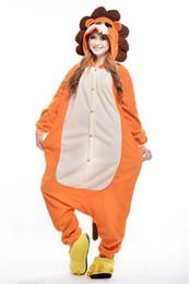 Wholesale 2016 Hottest Popular New Cartoon Unisex Kigurumi Pajamas Adult Anime Cosplay Costume Onesie The lion S M L XL
