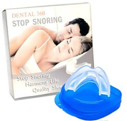 Wholesale Stop Snoring Mouthpiece Anti Snore Apnea Cure No Snore Sleeping Aid Night Tray