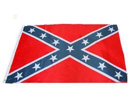 Две стороны Печатный флаг конфедератов Флаг Мятежник гражданской войны Национальный флаг Полиэстер 5 X 3FT 50pcs освобождает перевозку груза