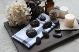 Wholesale 9pcs set Hot SPA Rocks Massage Stone Sets Natural Energy Therapy Stones Body Soul Relax