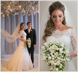 Wholesale 2015 New Style Ivory white Long Tulle Strapless Applique Mermaid Trumpet Bridal Gown Wedding Dresses DH v150220