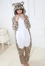 Wholesale 2014 Animal Leopard Onesie Adult Unisex Cosplay Costume Pajamas All In One Party Jumpsuit