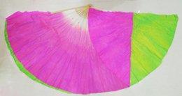 Wholesale Fans Dance cm two sided Silk Fan Veils Dancing Fan Veil fans dance party fan