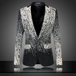 Wholesale Fashion New Design Men Blazer Floral Suit Personality Casual Blazer For Men Blazer Slim Fit Jacket Men Plus Size XL XL Fashion Blazer