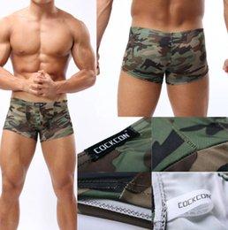 Wholesale Mens Sexy Camo Camouflage Soft Underwear U Convex Pouch Boxer Brief Trunk M L XL M105