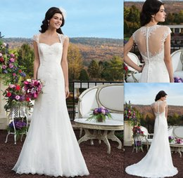 Wholesale 2015 Simple Backless Bridal Dresses Under V neck Ivory Chiffon Sheath Vestidos De Casamento Cheap Beach Wedding Gowns For Brides
