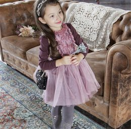Wholesale Net Yarn Korean Baby Skirts Cloth Winter Clothes Winter Protection Kids Princess Dresses Clothes Children Clothing Hot Sale