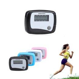 Wholesale new Pocket LCD Pedometer Mini Single Function Pedometer Step Counter LCD Run Step Pedometer Digital Walking Counter