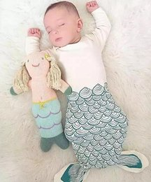 Wholesale 2016 Spring Summer Baby Infant Sleeping Bag Kids Mermaid Shark Sleeping Bags Blanket Child Cotton Pajamas Nightclothes Children Clothing