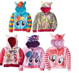 Wholesale 80 cm My little pony Baby Girls boys Hoodie coat Long Sleeve Terry Hooded Jumper Cartoon Hoodies Outerwear Kids baby Clothing jacket
