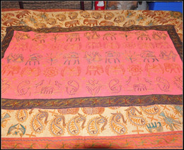 Indian Style Tea Table Cloth Handicraft Gift Embroidered Tablecloths India Pakistan Cultural Tapestry Fabric Soft Home Decor