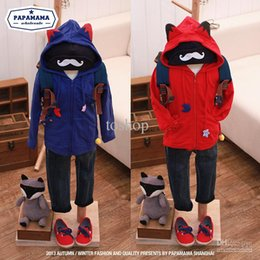 Wholesale Boutique children s clothing fall new cute fox shape three dimensional boy sweater jacket zippe