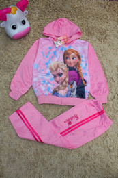 Wholesale NEW hot selling Frozen children s Activewear Girl animated character set Age