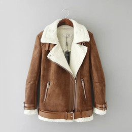 Discount Brown Shearling Coat | 2017 Brown Shearling Coat on Sale ...