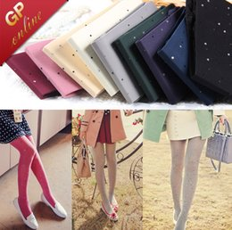 Wholesale Shiny Pantyhose Glitter Stockings Womens Tights with Diamonds On for Colors