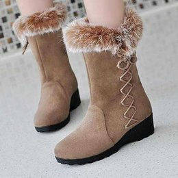 Discount Winter Dress Boots Low Heel Women | 2017 Winter Dress ...