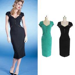 Black V neck Short Sleeve Slim Bodycon Dress Women Plus Size Pencil Dresses 2014 New Fashion Knee-Length Dress