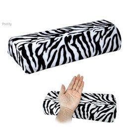 Wholesale New Zebra Stripe Soft hand pillow cushion Rest for nail Art Manicure Half Column