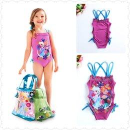 Wholesale Baby Girls Swimwear Toddler Swimsuit Character Queen Elsa Anna biquini infantil Children Kids One piece Girls Bathing Suit
