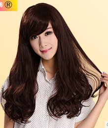 320 Long hair / Jurchen hair / oblique Liu Qi fluffy lifelike female models Women carve big wave slightly curled hair sets