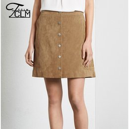 Wholesale high quality women skirts solid color single breasted elegant skirt with pockets casual lady saia EC9305