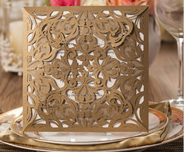 Wholesale 2015 personalized gold lace wedding cards invitations white Inner Sheets Cards Customized inner sheet laser cut wedding invitations