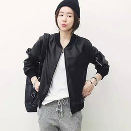 Womens Leather Baseball Jacket wsMsfP