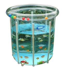 Wholesale Swimming pool eco friendly infant baby thickening transparent baby swimming pool alloy mount