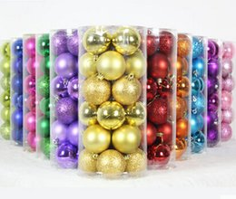 Wholesale The Christmas tree ornaments Electroplating ball plastic Christmas ball cm Christmas ball of light