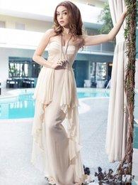 Wholesale Custom Hot Sale Sexy Sarah Hyland Sweetheart Champagne Celebrity Dress Pleats Dress a Dress Floor Length Formal Dress