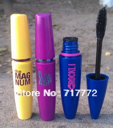 Wholesale 3pcs Brand Mascara Volume Express COLOSSAL Mascara Curling Thick Lengthening Blue yellow purple