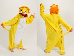 Wholesale Unisex Onesie Cartoon Pyjamas Adults Cosplay Sleepwear Yellow Lion Hot Selling Kigurumi Long Sleeves Fashion Costume Jumpsuit New Arrivals