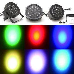AC220V / 110V 18W 6-канальный RGB LED Flat Par Light Освещение сцены для клуба DJ Stage партии Disco ж / DMX Control